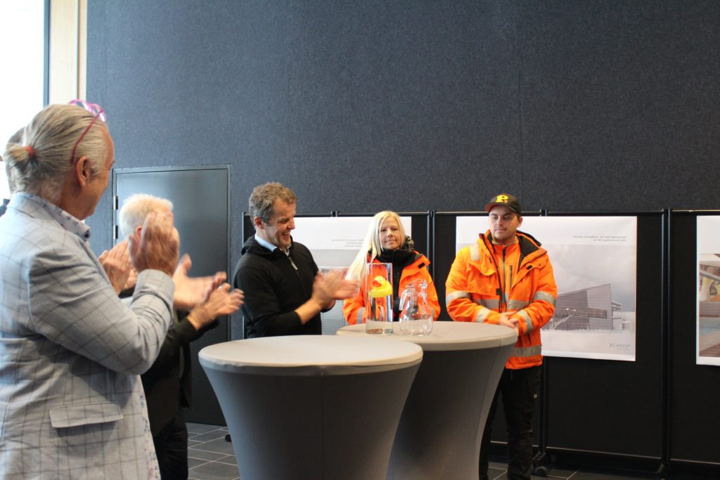 Kiruna Badhus första spadtaget panel We Group